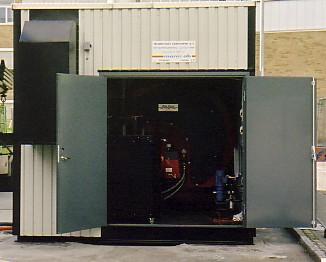 Fredrikstad Fjernvarme. Transportabel central. 2,5 MW olja + 1 MW el