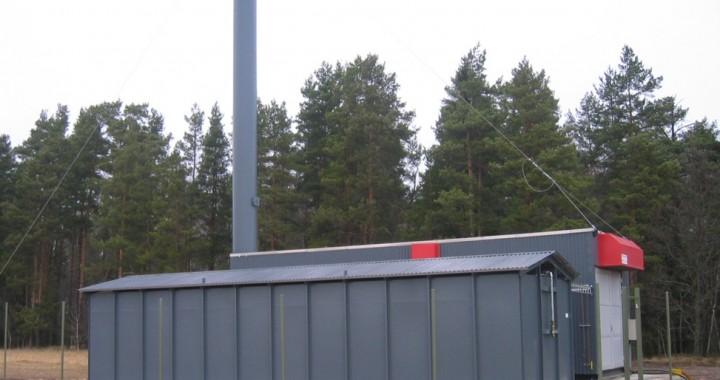 Vimmerby Energi AB. Transportabel central. 9 MW olja