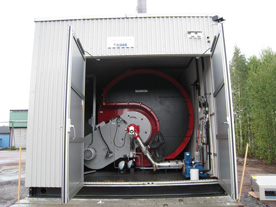 Karlstad Energi AB. Transportabel central 10 MW