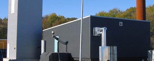Göteborg Energi AB, Amhult. Pelletspanna och oljepanna i container 1 MW pellets + 3 MW olja