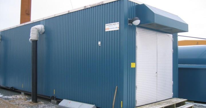 Jönköping Energi AB. Transportabel central. 7 MW olja