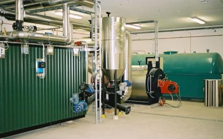 Kungälv Energi AB, Kärna. Pelletspanna från Hollensen samt oljepanna från LOOS . Pellets 500 kW & olja 750 kW
