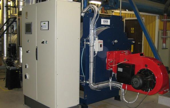 Landskrona Energi AB. Biogaspanna med brännare. 2,5 MW biogas