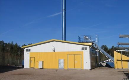 Vimmerby Energi AB, Södra Vi. Komplett leverans av Hollensen fastbränslepanna samt LOOS/SAACKE biooljepanna med brännare. 2 x 2 MW briketter/torrflis + 6 MW bioolja.
